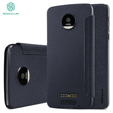 "For Motorola MOTO Z /Z Driod XT1650 5.5"" PU leather case Original Nillkin Sparkle flip cover with free gift"