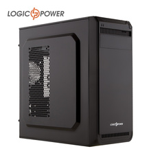 LOGIC POWER desktop computer case New Arrivals ,80mm FAN USBx2, SSDx2,  HDDx2,CD-ROMx1,PCIx7, AUDIO In / Out #5212