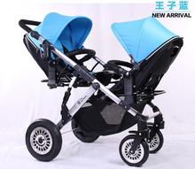 2015 Hot Sale Baby Twins Stroller,Infant Twin Strollers,3 Optional Color,Free Shipping,Nice Quality Luxury Stroller for Twins