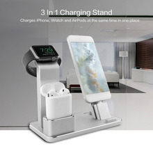 4 in 1 Aluminum Stand Portable Charging Stand Charging Docks Phone Holder Stand Accessories For iWatch For iPhone For iPad(China)