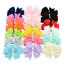 18pcs/lot 3 Inch 18 Colors Grosgrain Hair Ribbon Bow Cute Bow No Clip Boutique Bow Hair Accessories for DIY Decor 564