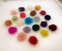 50X Fluffy Mink Fur Ball 30mm jewelry findings hair findings Dress Accessory different colors to select(China)