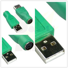 USB Male Socket to for PS2 PS/2 Port 6pin Mini Din Female Plug Adapter Convertor Connector For Keyboard Mouse Mice High Quality(China)