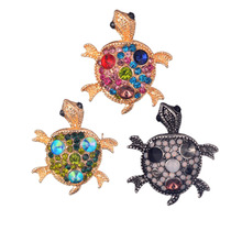 2017 new hot fashion South Korea inlaid fake decrate set with satellite fake stone wild small turtle Brooch(China)