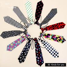 1pc/lot 30 colors Boy Ties For Kid Baby Necktie Brand Print Dots Plaid Pattern Soctland School Uniform Red Black White Cravat(China)