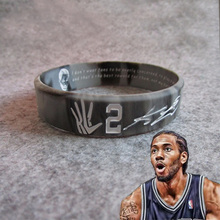 Buy Wholesale Favorite Basketball Star Head Karst Inspirational Sports Lava Bracelet Wristband Kobe Curry James Rubber Cuff Bangle for $1.20 in AliExpress store