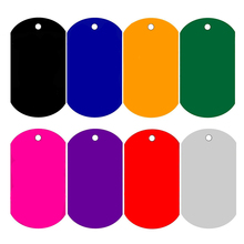 Free Shipping Pet Tags Mix Colors Dog Name Tags Aluminum Alloy Military Dog Tags Necklace Pendant Blank Dog Tag Men Necklace