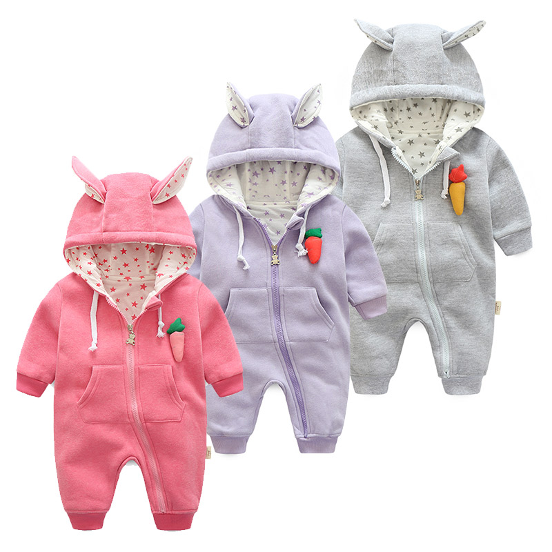 2017 new fashion infant girl costumes cute Carrot hoodies for girls  outerwear &amp; coats , 0-24M Baby Girls clothes Newborn wear<br><br>Aliexpress