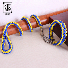 [LFMB] Dog Leash With Collar Retractable Leashes For Pet Dog Show Lead Dog Leashes For Large Dogs Pets Products Mascotas(China)