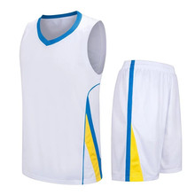 Best breathable basketball jerseys cheap college top throwback jersey adults sports sleeveless jersey uniforms white  LD-8091