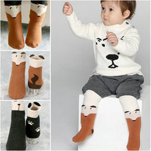 1 pair 2017 new spring soft and comfortable Baby Stocking warm non-slip character cotton baby stock cTWS0089(China)