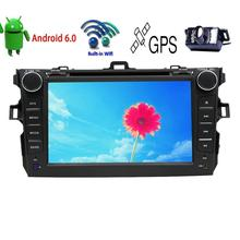 2Din Android 6.0 Car Stereo for Toyota Corolla GPS Navigation Car DVD Player Vehicle Radio Headunit Bluetooth WiFi+Backup Camera
