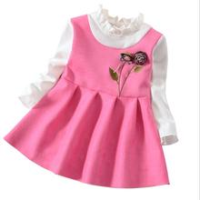 bibicola Girl dress princess spring dress wedding kids party dresses baby frock designs christening birthday dresses for girls(China)