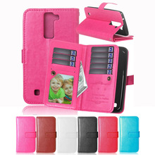 PU Leather Cover for LG K8 Wallet Holder Card Flip Case for For LG K8 Lte K350 K350E K350N Moblie Phone Bag with Card Holder Bag