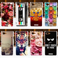 NEW! sFOR Sony Xperia E3 Case Cover D2203 D2206 sFORSony E3 Case Colorful Painting Phone Back Protector Case FOR Sony Xperia E3