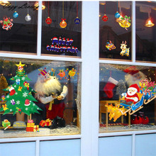 Window Glass Sticker 1 PC Christmas PVC Removable Display Window Showcase Decor Wall Stickers Festival Supply Wholesale D29