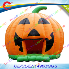 free air shipping to door,5m/16.5ft giant kids pvc Halloween Pumpkin Inflatable baby Bouncer,Bounce House(China)