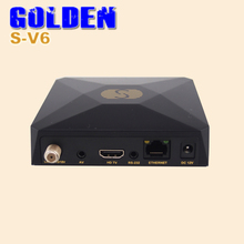 3PCS S V6 Mini Digital Satellite Receiver S-V6 AV HDMI output Support 2xUSB WEB TV USB Wifi 3G Biss Key Youporn DVB-S2 DVB S2