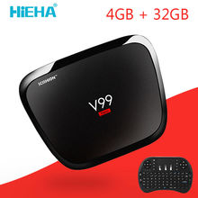 V99 Hero Android Tv Box 4GB Ram 32GB Android 5.1 Smart TV Box RK3368 Octa Core Mali-T6X Kodi TV Box Dual Band Wifi 2.4/5GHz AC
