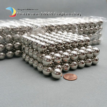 1pack Larger NdFeB Magnet Balls 6-15mm Diameter Nickle color Strong Neodymium Sphere ball Magnets Rare Earth Magnets(China)