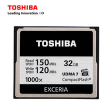 TOSHIBA CF Card 32G 1000X Camera Memory Card UDMA 7 High-Speed 150M Compact Flash CF Card for Canon Nikon Sony SLR