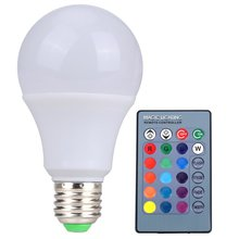 Vanjing RGB LED Lamp E27 3W 5W 10W LED RGB Light Lampada LED Bulb 85-265V SMD5050 16 Colors Change with IR Remote Controller(China)