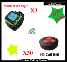 KOQI 433.92MHz Wireless Calling System Call Button Guest Waiting Pager Restaurant Waterproof different Color Restaurant bell(China)