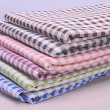 Plaid Table Cloth Japanese Style Cotton Linen Decorative Table Cover Red / Light Purple / Green / Blue / Coffee / Grey / Pink