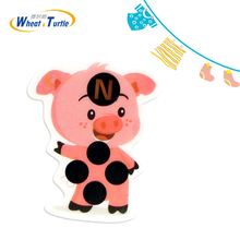 4Pcs Piggy Cartoon Thermometers Fever Monitor Forehead Sticker Baby Thermometer Lcd Digital Health Care Medical Kids Thermometer