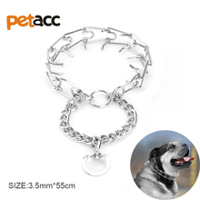 Petacc High quality Stainless Iron Dog Collars Leash Small Or Large Dog Chain Solid Pet Necklace Training Collar(China)