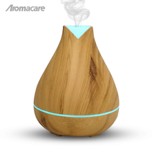 Aromacare 530ml Ultrasonic Humidifer Wood Grain Misting LED Color Diffuser Parfum Changing Color Ultrasonic Air Oil Duffuser(China)