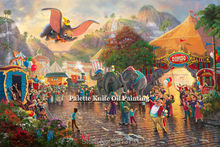 Thomas Kinkade Oil Paintings Dumbo Giclee Canvas Paintings Spray Home Decorations And Posters