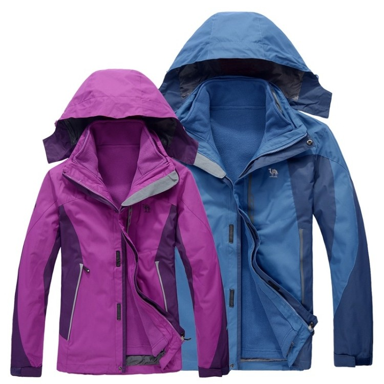 Camel removable liner twinset outdoor jacket lovers design outdoor clothing 3-in-1 thickening wadded jacket  =YcfW5<br><br>Aliexpress