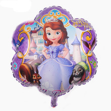 TSZWJ N-022 Free Shipping New plum-shaped aluminum balloons princess children's toys birthday party balloons(China)
