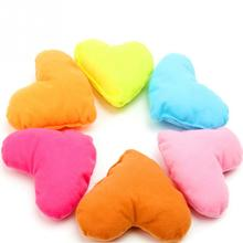 2016 Candy Color Cute Large Plush PP Cotton Heart Pillow Pet Toys For Large Dog Bite Resistant Soft Puppy Pet Toys For Dog(China)