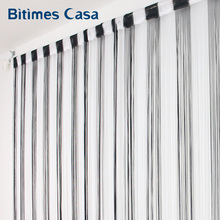 Black And White Color MIX Combination String Curtain 300*300CM Solid Color High Density Window Vanlance Room Divider(China)