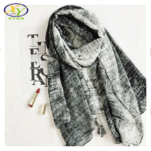 1PC 180*100CM 2017 Spring New Design Europe Style Cotton Women Long Tassels Scarf Woman New Cotton Viscose Big Pashminas Shawl