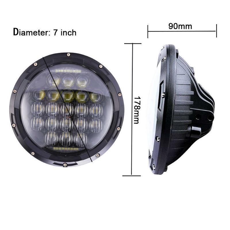5d 130w 7inch led headlight800