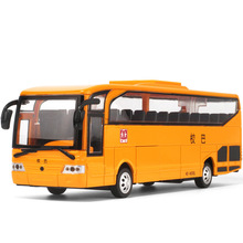 1:28 The  school bus Alloy Diecast Car Model Pull Back Toy Car model Electronic Car with light&sound Kids