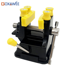 Mini Table Vice Adjustable Max 37mm Plastic Screw Bench Vise for DIY Jewelry Craft Repair Tools Dremel Power Tools Accessories