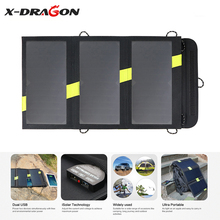 X-DRAGON High Efficiency Fold Solar Panel Charger 5V 20W Solar Charger for iPhone iPad Samsung HTC Sony OnePlus Huawei and more.(China)