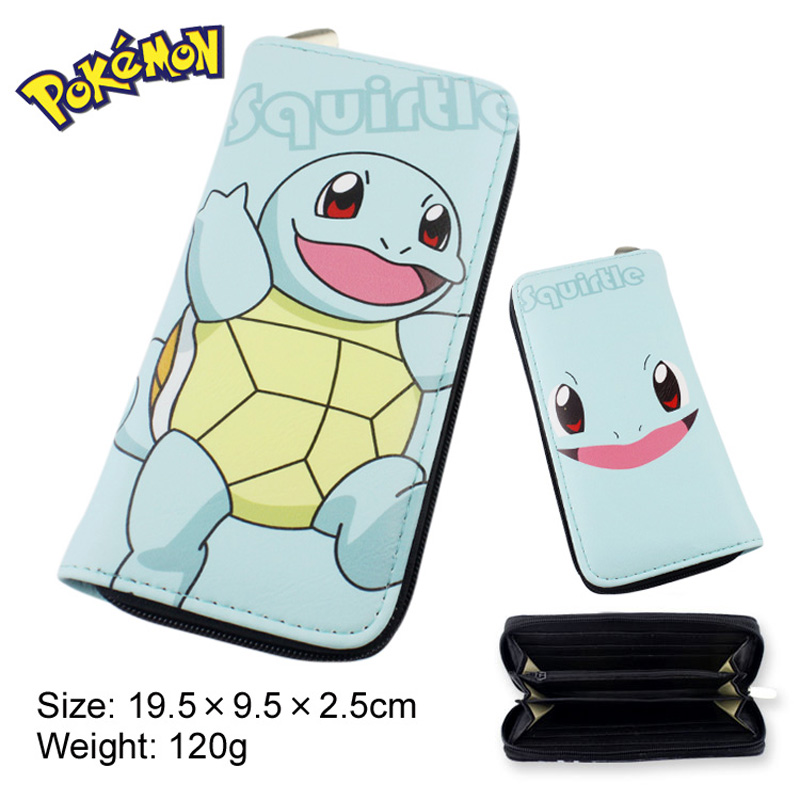 Anime Pokemon/Pocket Monster Squirtle Multifunction Long Wallet/Cell Phone Clutch Purse/Portable Cash Purse<br><br>Aliexpress