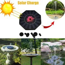 New Outdoor Solar Powered Bird Bath Water Fountain Pump For Pool Garden Aquarium(China)
