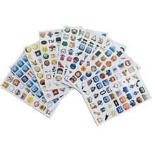 Die Cut Emoji Smile Sticker for Laptop for Notebook Message Baby Children Cartoon Vinyl Creative Decor Toys HT3718