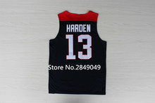 #13 James Harden 2014 Team USA basketball jersey Embroidery Stitched Customize any size and name(China)