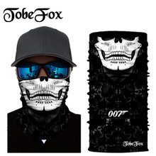 White Skull Mouth Bandana Balaclava Neck Motorcycle Cycling Mask Outdoor Hunting Breathing Protecti Windproof Caps Drop Shipping