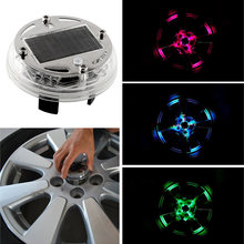 4 Mode 12 LED Fashion Attractive Car Auto Solar Power Saving Flash Color Wheel Light Decor Lamp Decoration NEW