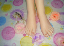 22*7.5*8.5cm Newest Top quality real skin silicone legs, silicone female feet for displaying