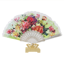Wing chun lacy fan is a Spanish European lace fan with custom-made advertising fans  Big flower red pattern vogue  GYS901
