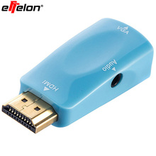 Effelon 1080P Gold-Plated HDMI to VGA Converter Adapter for PC, Laptop, DVD, Desktop and other HDMI Input Devices(China)